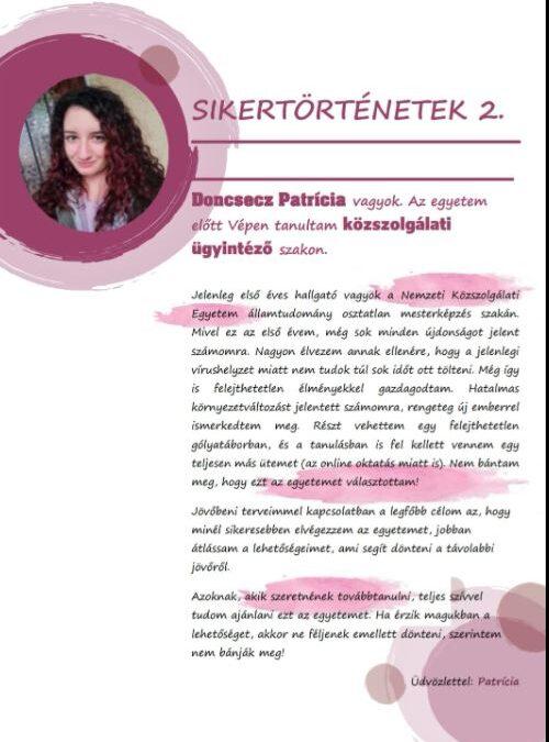 Sikersztori 2 vép
